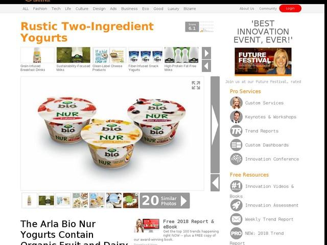 Rustic Two-Ingredient Yogurts - The Arla Bio Nur Yogurts Contain Organic Fruit and Dairy (TrendHunter.com)