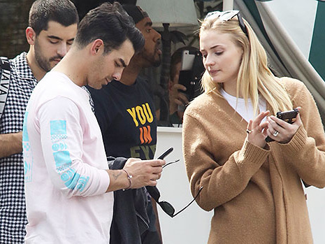 Sophie Turner Snoops On Joe Jonas' Cell Phone As They Spend Downtime Together In L.A.
