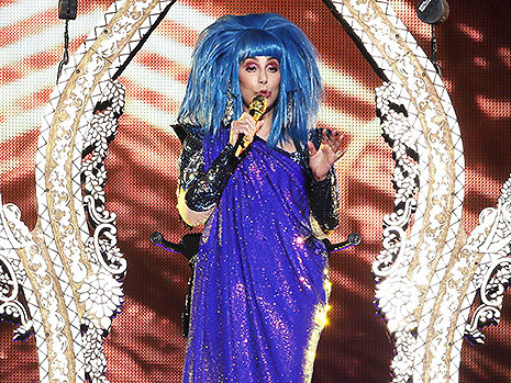 Cher, 73, Looks Ageless In Dramatic Blue Wig On Stage During Farewell Tour — See Pics