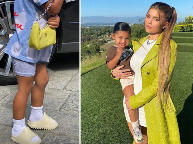 Kylie Jenner shares picture of daughter Stormi, 2, with Prada handbag after she was slammed for $1,180 Louis Vuitton bag