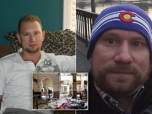 Denver man, 40, has not been heard from since bomber blew himself up at his hotel in Sri Lanka
