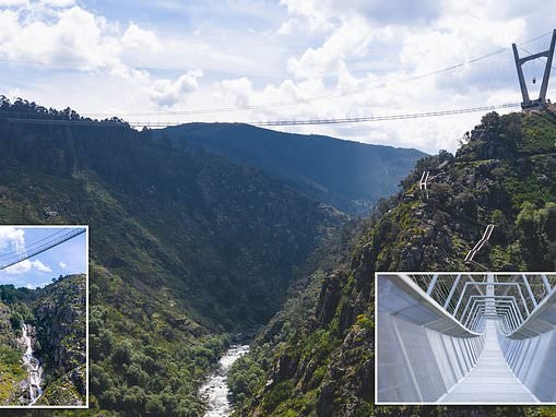 Portugal: The nail-biting new see-through '516 Arouca' footbridge that hangs 575ft above a river