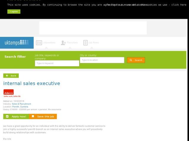 internal sales executive