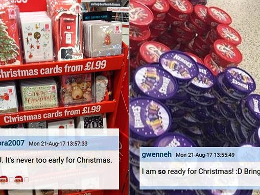 Christmas cards have already gone on sale in August