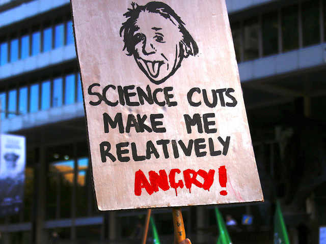 Aspiring Scientists, Fearful For The Future, March Against Donald Trump