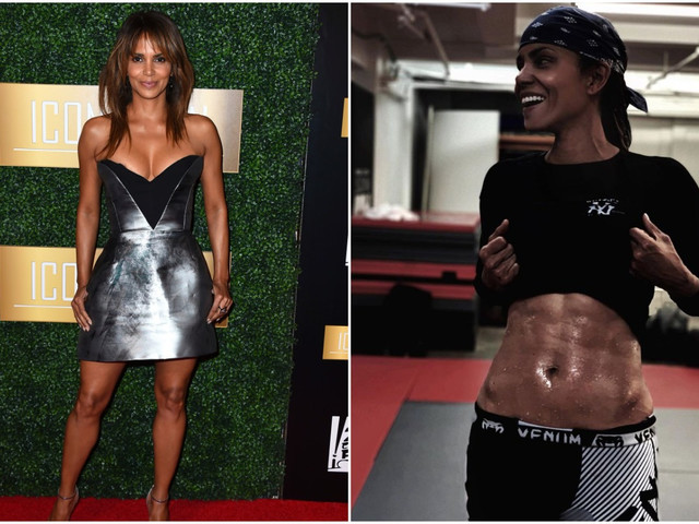 Halle Berry, 53, flashes her rock hard six-pack and reveals she's in the best shape of her life