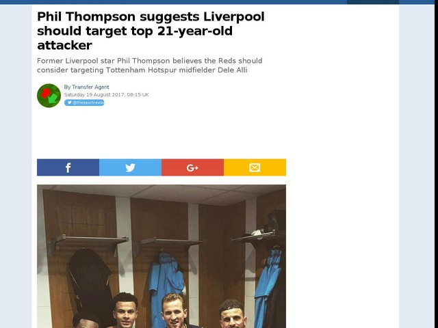 Phil Thompson suggests Liverpool should target top 21-year-old attacker