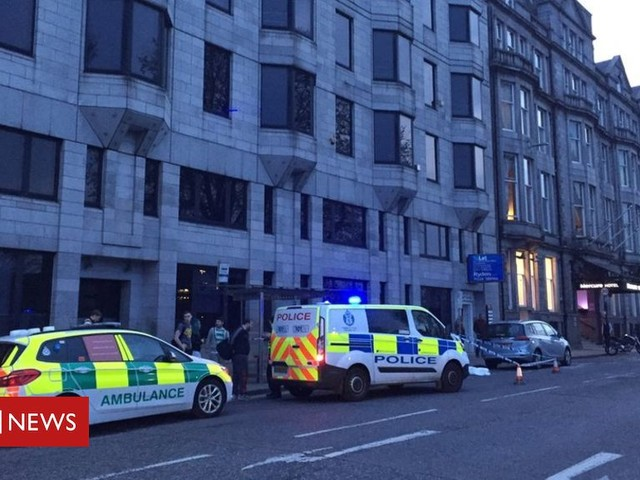 Two in hospital after Aberdeen city centre attack