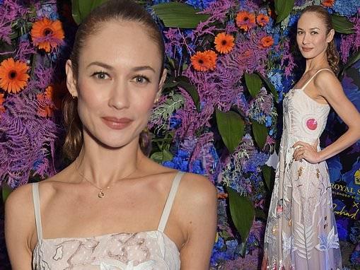 Olga Kurylenko wows in a sequinned floral gown at the Richard Quinn show at London Fashion Week