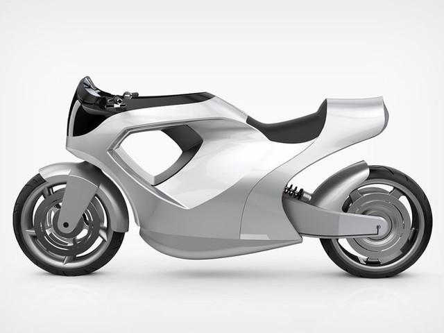 Next-Gen Motorcycle Concepts - The Conceptual Tesla Model M Has a Curvaceous Design (TrendHunter.com)