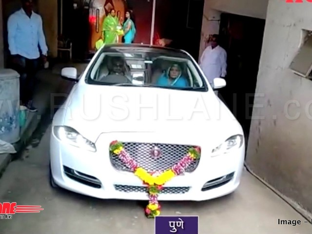 Farmer buys Jaguar worth Rs 1.34 cr – Distributes pedha in the entire village