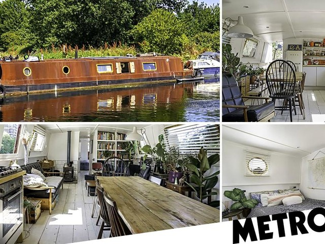Get on the property river in London with this £150k eco-friendly houseboat for sale now
