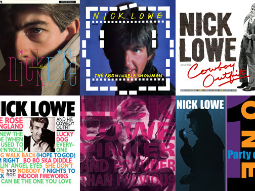 Nick Lowe – Nick The Knife (1982), The Abominable Snowman (1983), Nick Lowe And His Cowboy Outfit (1984), The Rose Of England (1985), Pinker And Prouder Than Previous (1988), Party Of One (1990) (Yep Roc)