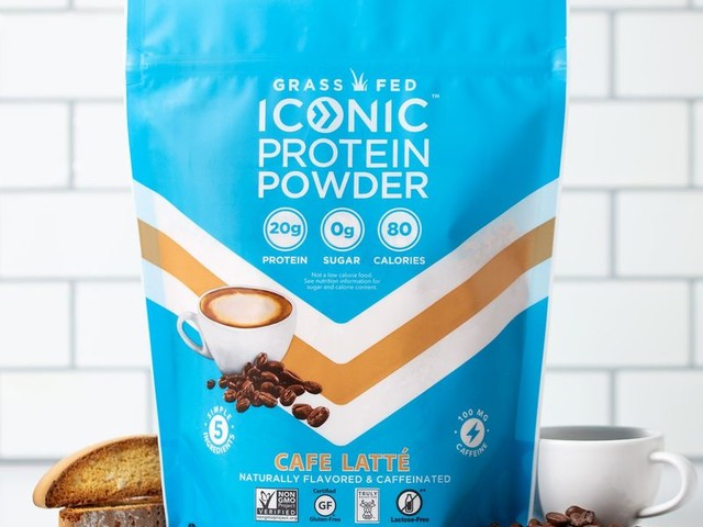 Caffeine-Packed Protein Powders - The Iconic Café Latte Protein Powder Has 100mg of Caffeine (TrendHunter.com)