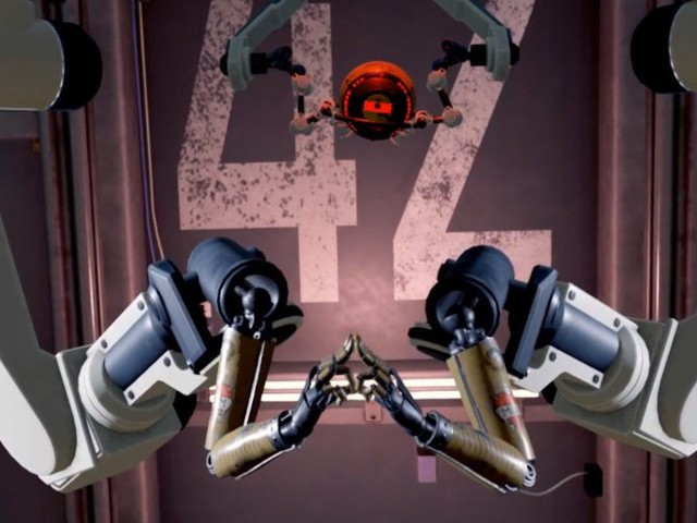 Valve release Aperture Hand Lab game to demostarte new VR controller cpabilities
