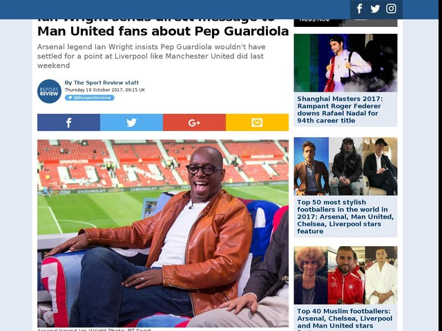Ian Wright sends direct message to Man United fans about Pep Guardiola