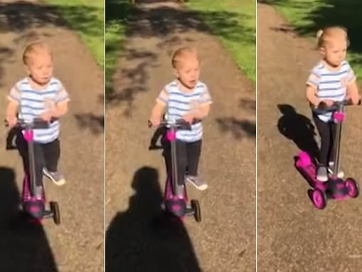 Adorable video shows a two-year-old girl muddling her words as she sings a nursery rhyme