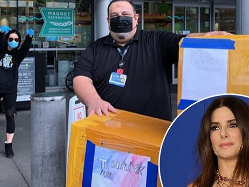 Sandra Bullock donates 6,000 N95 masks to Los Angeles healthcare workers