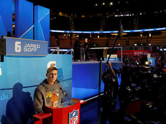 Brady, Goff raring to go as Super Bowl circus kicks off