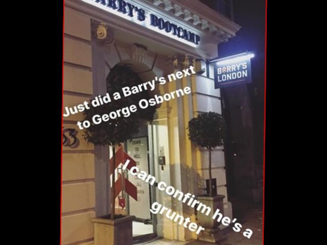 """Grunter"" Osborne Works Out at Beckham's £295-a-Month Gym"