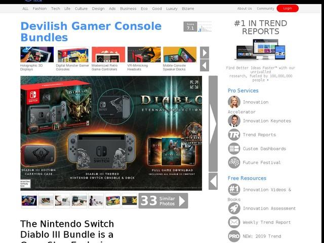 Devilish Gamer Console Bundles - The Nintendo Switch Diablo III Bundle is a GameStop Exclusive (TrendHunter.com)