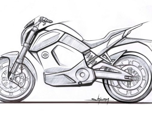 Revolt Intellicorp Reveals Official Sketch Of India's First Smart Motorcycle