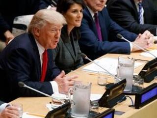 The Latest: Meeting Netanyahu, Trump talks Middle East peace