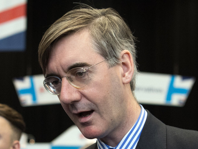 Jacob Rees-Mogg Confronted By Angry Protesters At Tory Conference