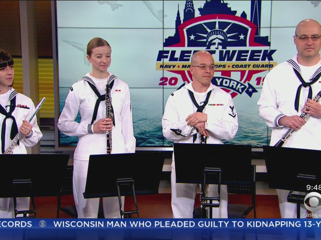 U.S. Navy Band Gives Special Performance During Fleet Week