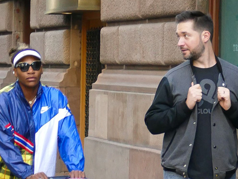 Serena Williams & Alexis Ohanian Take Daughter Olympia, 23 Mos., For A NYC Stroll Before U.S. Open