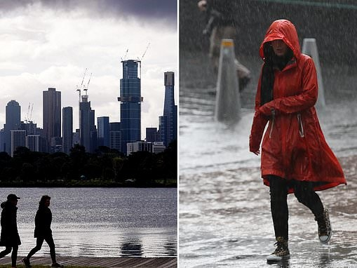 Melbourne's apparent temperature to 1.8C with rain tipped for Sydney