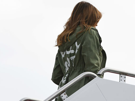 Melania Trump Wore An Eyebrow-Raising Jacket While Visiting Detained Immigrant Children