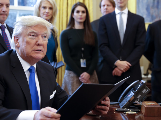 Critics See Green Shoots Of Sanity Inside Trump's White House