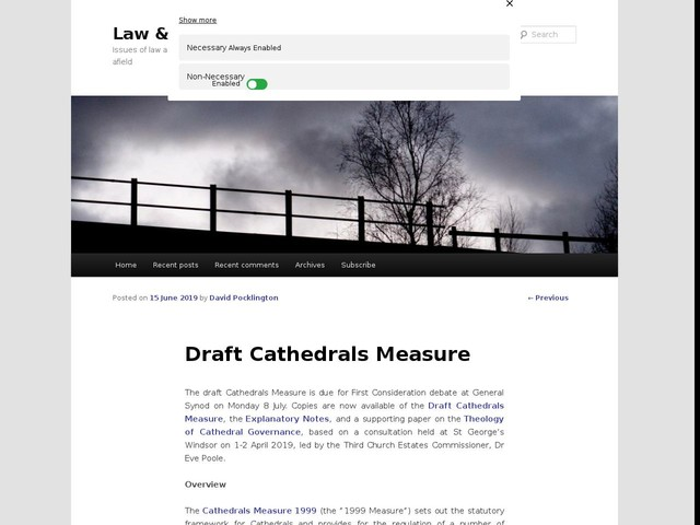 Draft Cathedrals Measure