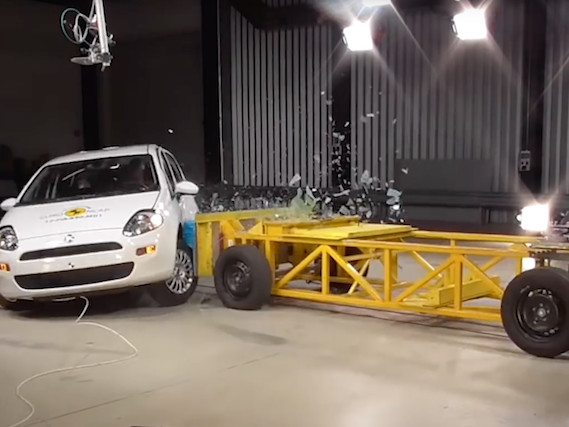 Fiat Punto the first car ever to be awarded zero stars following Euro NCAP crash tests