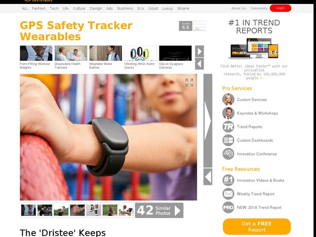 GPS Safety Tracker Wearables - The 'Dristee' Keeps Kids and the Elderly Independent and Healthy (TrendHunter.com)