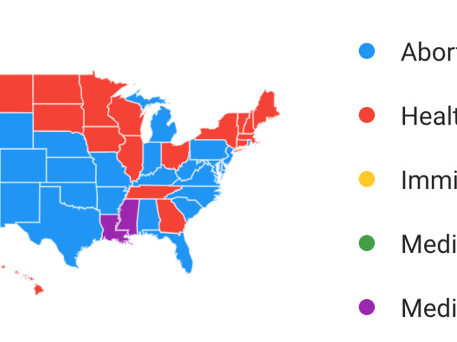 These are the hot-button issues that people are Googling the most in every state ahead of Trump's State of the Union address (GOOG)