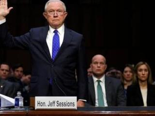 The Latest: Sessions tells senators he urged Comey firing