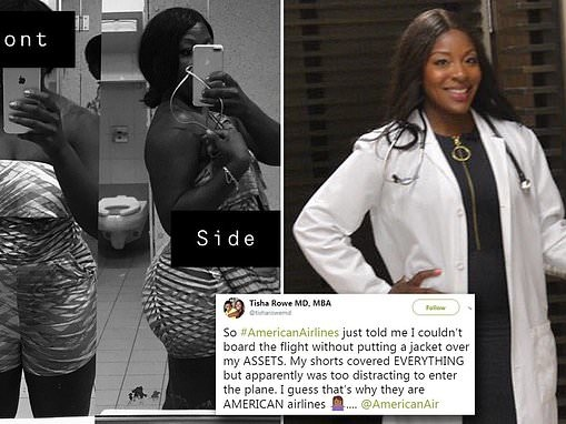 Doctor reveals she was removed from a flight after staff deemed her romper inappropriate