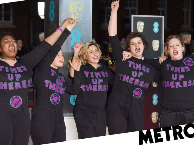Domestic violence activists Sisters Uncut take over Baftas red carpet
