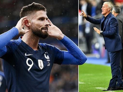 France manager Didier Deschamps warns striker Olivier Giroud over benchwarmer role at Chelsea