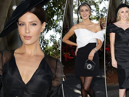 Erin Holland and Dani Willis cut stylish figures as they lead red carpet arrivals at the races