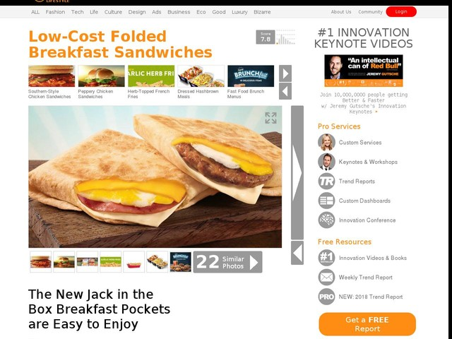 Low-Cost Folded Breakfast Sandwiches - The New Jack in the Box Breakfast Pockets are Easy to Enjoy (TrendHunter.com)