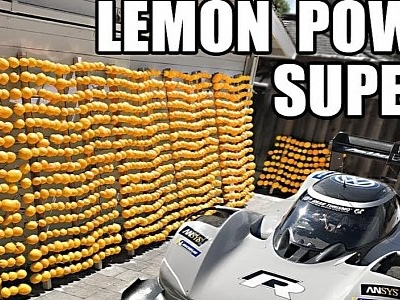Insane Lemon Battery Used to Power Volkswagen Electric Supercar... Sort Of