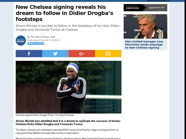 New Chelsea signing reveals his dream to follow in Didier Drogba's footsteps