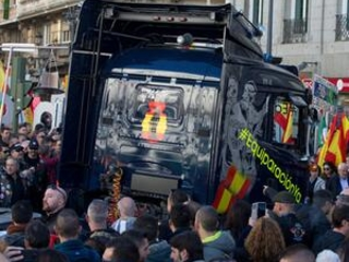 Spanish police protest in Madrid to demand better pay