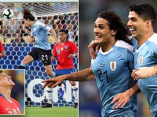 Chile 0-1 Uruguay: Edinson Cavani scores late winner to clinch top spot in Group C in Copa America