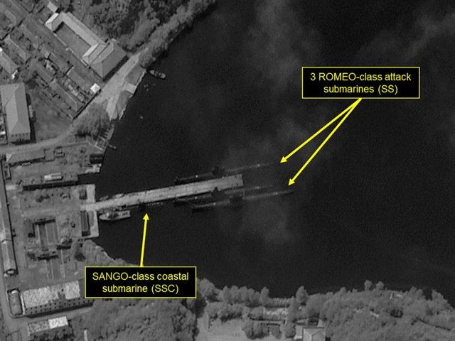 Satellite images 'show North Korea is preparing for a submarine missile launch'