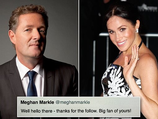 PIERS MORGAN-Ex friend Meghan Markle is ruthless social climbing actress used to getting her own way