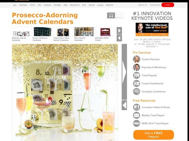 Prosecco-Adorning Advent Calendars - Popaball's Prosecco Advent Calendar Has Edible Enhancements (TrendHunter.com)